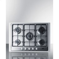 "30"" Wide 5-burner Gas Cooktop"