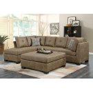 Darie Casual Golden Brown Sectional Product Image