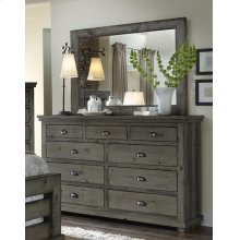 Dresser \u0026 Mirror - Distressed Dark Gray Finish