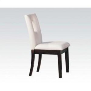 White Pu Side Chair @n