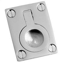 """Polished Nickel Flush ring, 1 1/4"""" x 1 3/4"""""""