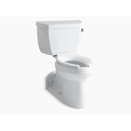 White Comfort Height Two-piece Elongated 1.0 Gpf Toilet With Pressure Lite Flushing Technology and Right-hand Trip Lever