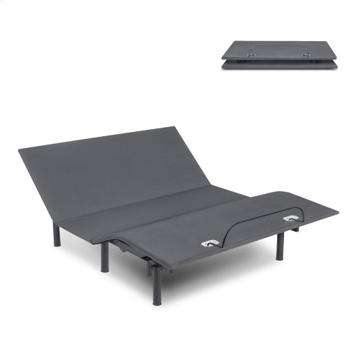 Symmetry EZ Compact Adjustable Bed Base with Head and Foot Articulation, Split Queen