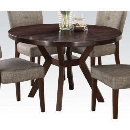 "Espresso Dining Table, 48""dia"
