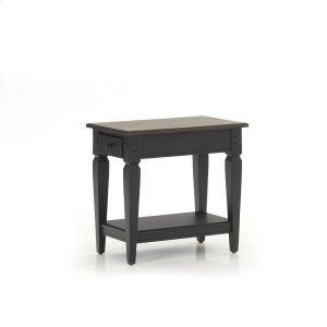 Intercon FurnitureGlennwood Chairside Table  Black & Charcoal