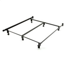 Inst-A-Matic Premium PC761R Bed Frame with Headboard Brackets and (6) 2-Inch Locking Rug Roller Legs, Powder Coat Finish, Queen