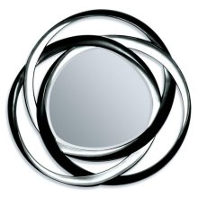 "BK/SILVER ACCENT MIRROR, 51""D"