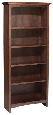 "CAF 60""H x 24""W McKenzie Alder Bookcase in Cafe Finish Product Image"