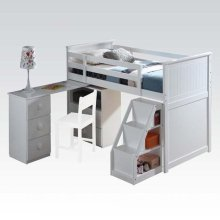 KIT - WHITE TWIN LOFT BED