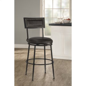 Hillsdale FurnitureThielmann Commercial Swivel Bar Stool - Charcoal/charcoal