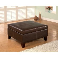 Casual Dark Brown Square Ottoman
