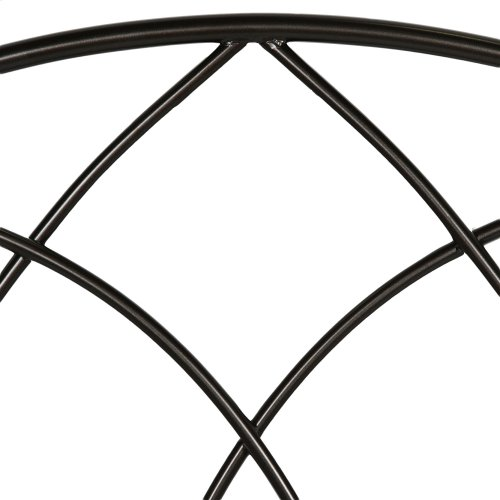 Deland Complete Metal Bed and Steel Support Frame with Arched Rails and Finial Posts, Brown Sparkle Finish, California King
