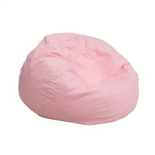 Small Light Pink Dot Kids Bean Bag Chair