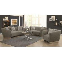Grayson Contemporary Grey Three-piece Living Room Set