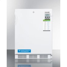 """ADA Compliant 24"""" Wide All-freezer for Freestanding Use Capable of -25 C Operation; Includes Audible Alarm, Lock, and Hospital Grade Plug"""