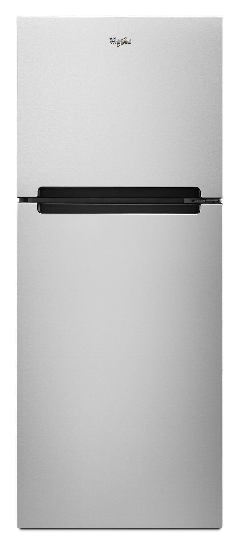 Whirlpool25-Inch Wide Top Freezer Refrigerator - 11 Cu. Ft. Monochromatic Stainless Steel