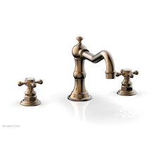 HENRI Deck Tub Set - Cross Handle 161-40 - Old English Brass