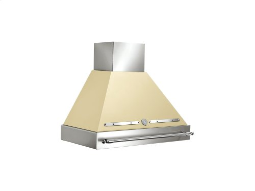 36 Wallmount Canopy and Base Hood, 1 motor 600 CFM Matt Cream