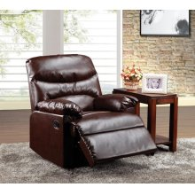 CRACKED BROWN BONDED RECLINER