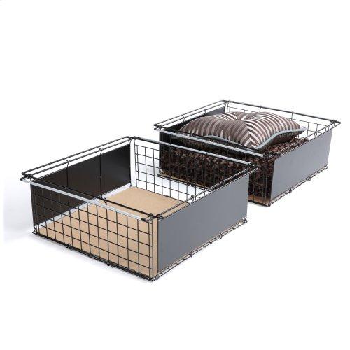 Atlas Metal Slide-Out Drawer for Bed Base Support System, 2-Pack
