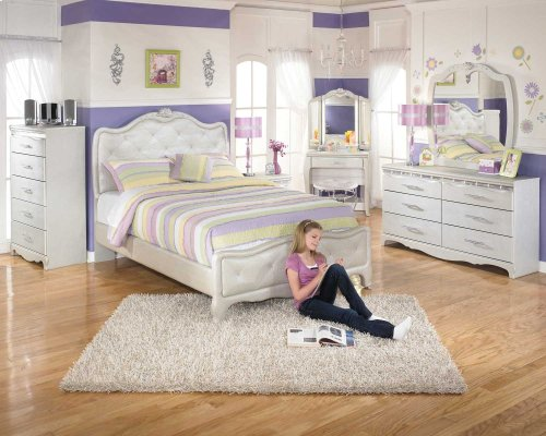 Youth Full Upholstered Headboard Bed Package