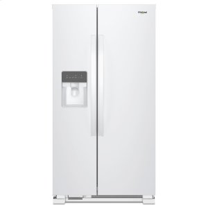 Whirlpool36-inch Wide Side-by-Side Refrigerator - 24 cu. ft. White