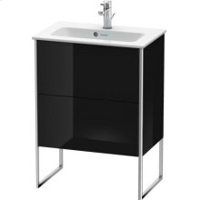 Vanity Unit Floorstanding Compact, Black High Gloss Lacquer