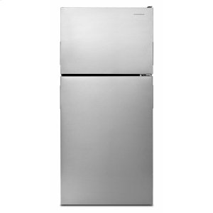 Amana30-inch Wide Top-Freezer Refrigerator with Garden Fresh Crisper Bins - 18 cu. ft. - Monochromatic Stainless Steel