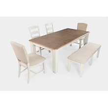 Dana Point Extension Dining Table With 4 Ladderback Chairs