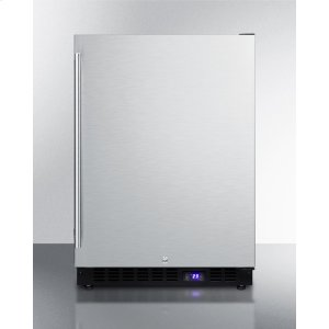 SummitFrost-free Outdoor All-freezer for Built-in or Freestanding Use With Icemaker, Black Cabinet, Ss Door, Digital Thermostat, LED Lighting, and Lock