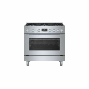 Bosch800 Series Gas Freestanding Range 36'' Stainless Steel HGS8655UC