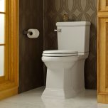 American StandardTown Square Right Height Elongated Toilet with Right Hand Trip Lever  American Standard - White