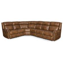 Living Room Esme 4-Piece Sectonal w/3 Power Recliner w/ Power Headrest