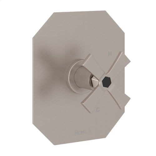 Satin Nickel Bellia Pressure Balance Trim Without Diverter