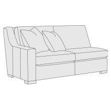 Germain Left Arm Loveseat in Mocha (751)