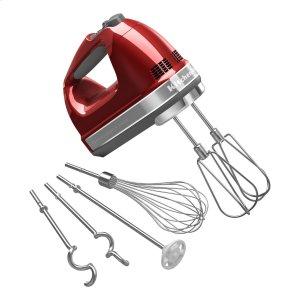 Kitchenaid9-Speed Hand Mixer Candy Apple Red