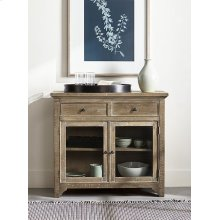 Serving Cabinet - Distressed Oak Finish