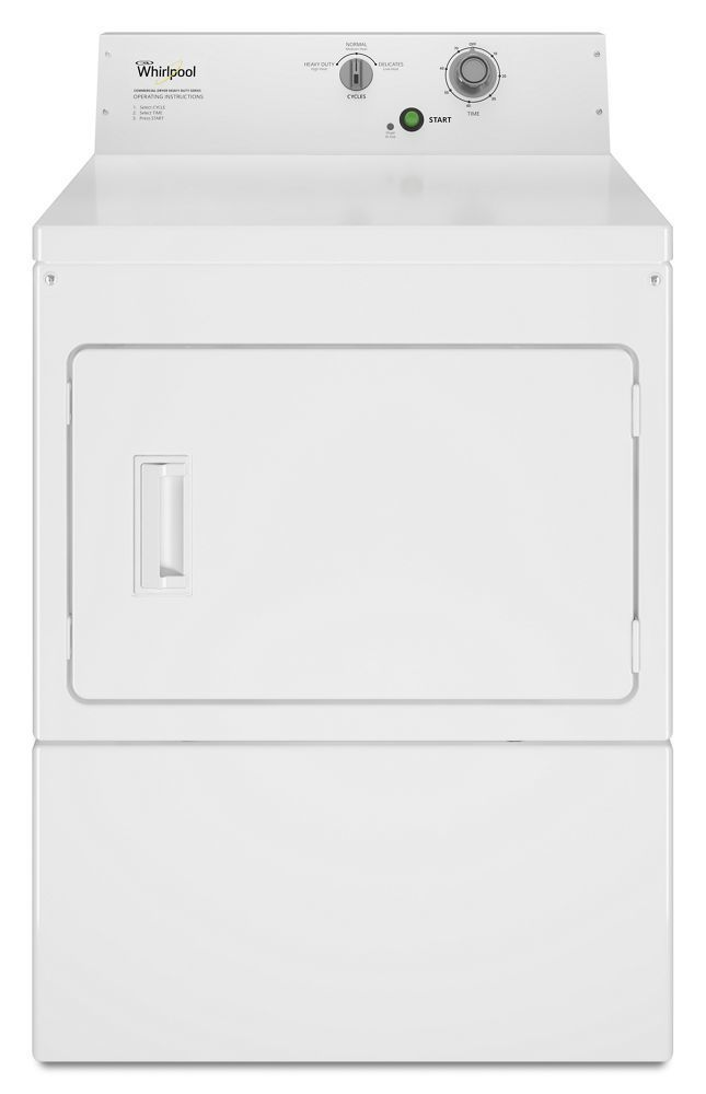 WhirlpoolCommercial Gas Super-Capacity Dryer, Non-Coin
