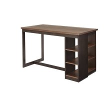 Counter Storage Table - Walnut/Black Finish