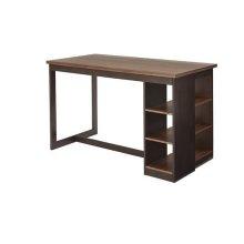 Counter Storage Table - Walnut/Black Finish