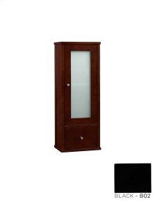 """Contemporary 32"""" Bathroom Wall Cabinet in Black"""