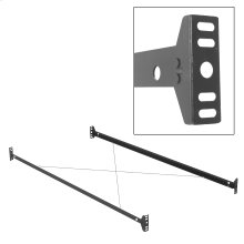 75-Inch 34B Bed Frame Side Rails with Bolt-On Brackets and Sta-Tite Wires for Headboards and Footboards, Twin / Full