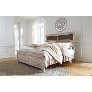 Ashley Furniture Willabry - Weathered Beige 3 Piece Bed Set (Cal King)