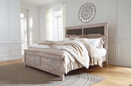 Willabry - Weathered Beige 3 Piece Bed Set (Cal King)