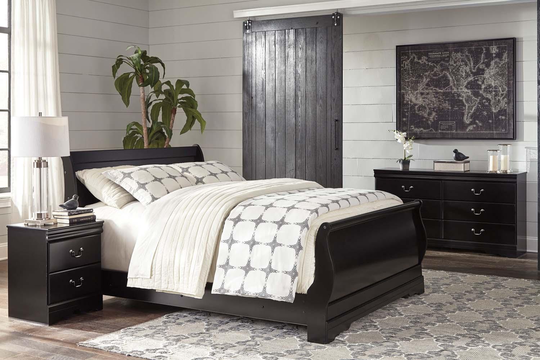 Huey Vineyard   Black 3 Piece Bed Set (Queen)