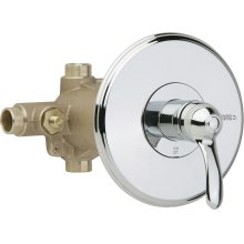 Thermostatic/pressure balancing tub and shower fitting with shower head and diverter tub spout options