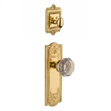 Nostalgic - Handleset Interior Half - Meadows Plate with Waldorf Knob in Polished Brass