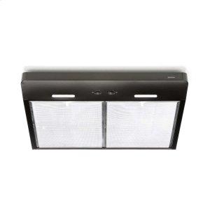 Corteo 30-Inch 250 CFM Black Range Hood with LED light - BLACK