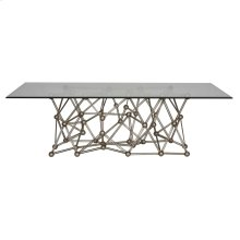 Silver Leaf Iron Coffee Table Base Only