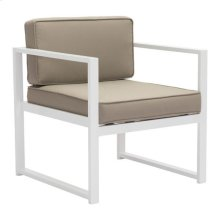 Golden Beach Arm Chair White & Taupe